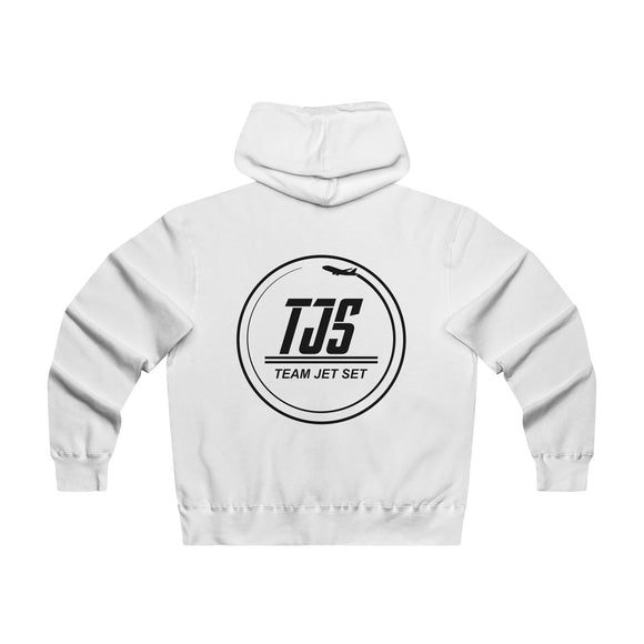 Exclusive All White Team Jet Set Zipped Sweater - Lightweight Hoodie