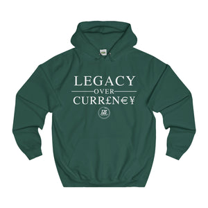 Exlusive Legacy Over Currency - Fitted College Hoodie