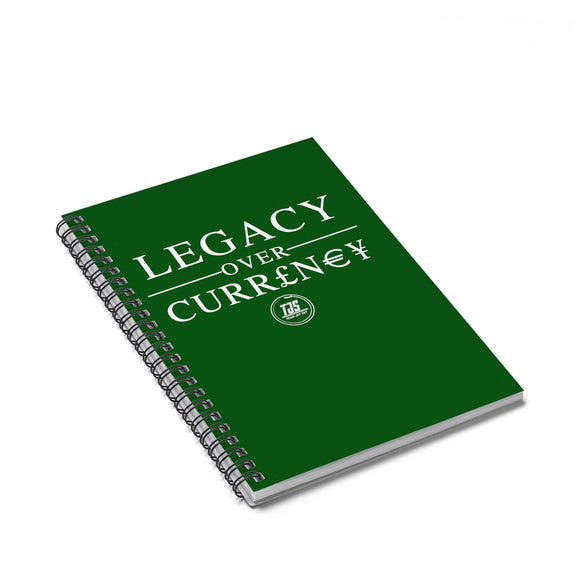 Legacy Over Currency Daily Accountability Spiral Notebook - Ruled Line