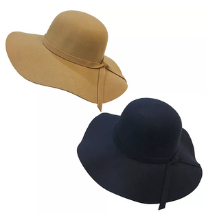 Women's Wide Brim Floppy Hat Camel