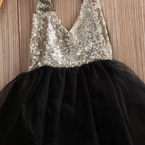 Toddler Girls Sequin Romper Dress