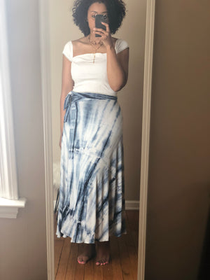 Shibori Knit Wrap Skirt