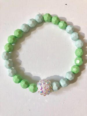Light Green Medley Bead Bracelet