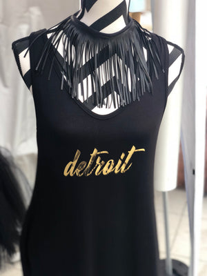 Detroit Maxi Dress in Black 3XL ONLY