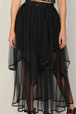 The Monroe Maxi Skirt in Black