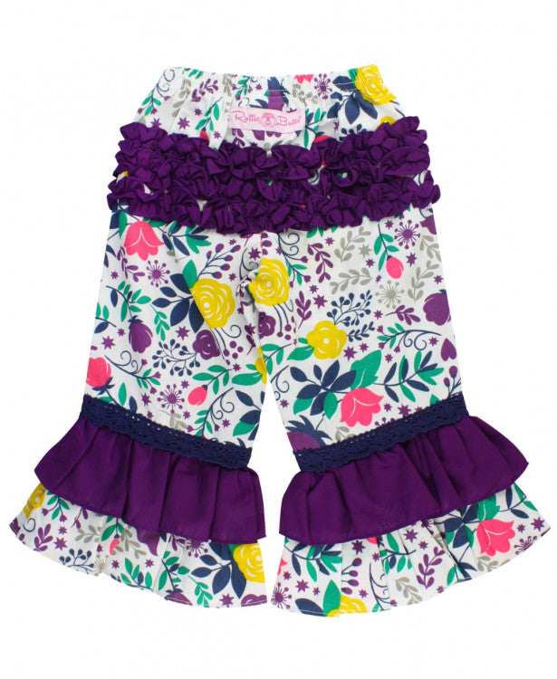 Little Girls Garden Harvest Ruffle Pants by RuffleButts