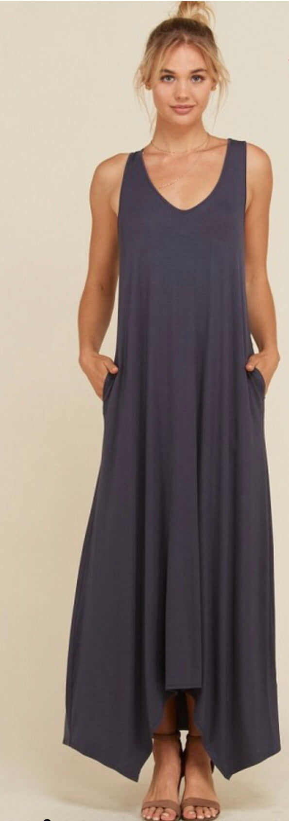 Detroit Maxi Dress in Slate