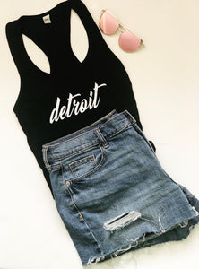 Ladies Detroit Racerback Tank