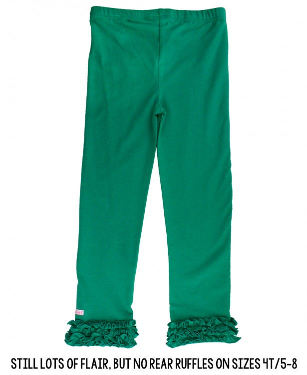 Girls Emerald Ruffle Leggings by RuffleButts