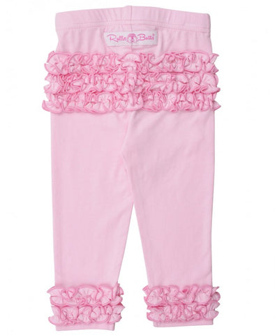 Little Girls Pink Everyday Ruffle Leggings by RuffleButts