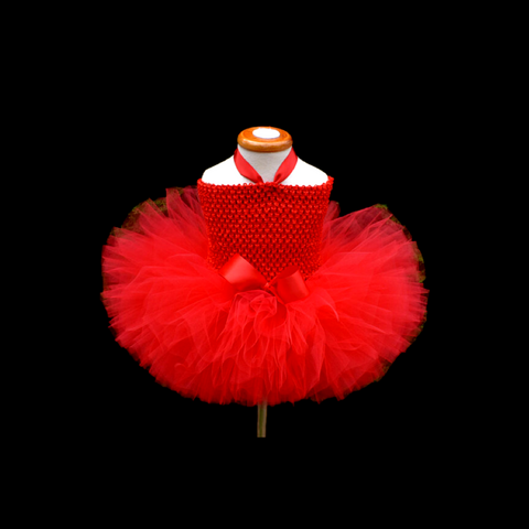 Girls Reagan Tutu Dress Red