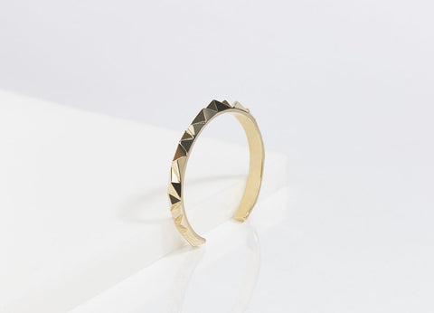 Reckon Small Cuff Vermeil (Sterling Silver w/18k Gold)