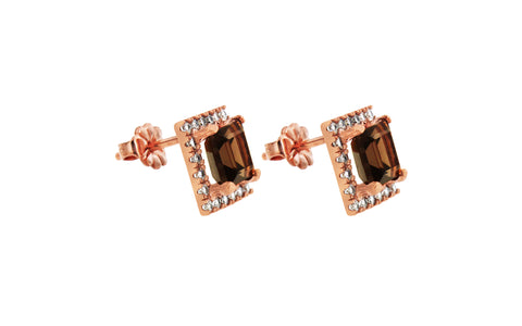Downtown Rose Gold Stud