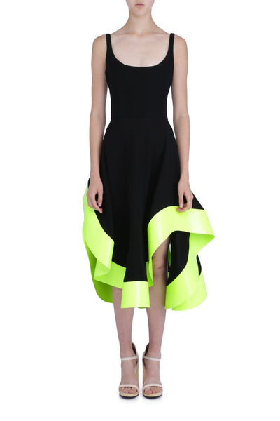NEON HEM SALSA DRESS Thick Jersey