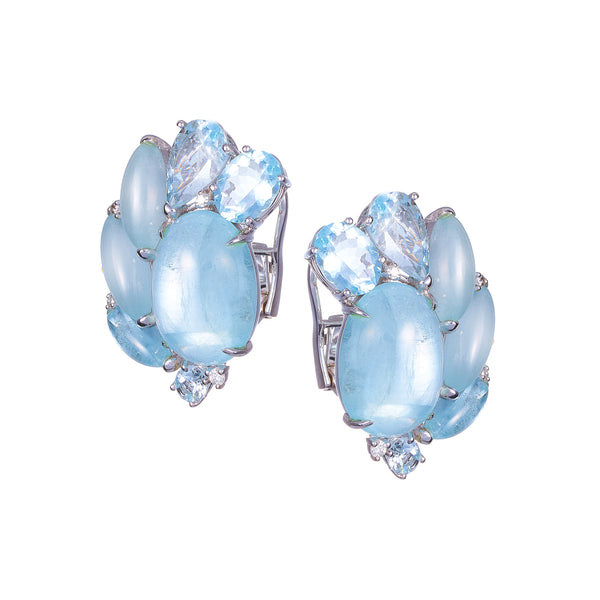 ESCARABAJO AQUAMARINE EARRINGS