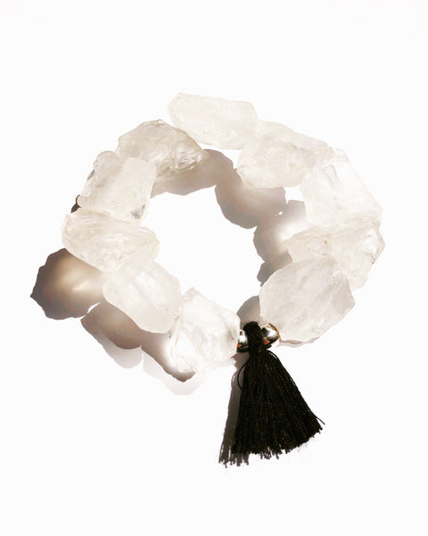 On The Rocks White Bracelet