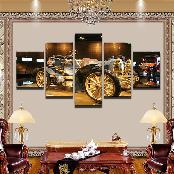 1902 Mercedes Simplex 5 Panel Canvas Print Wall Art