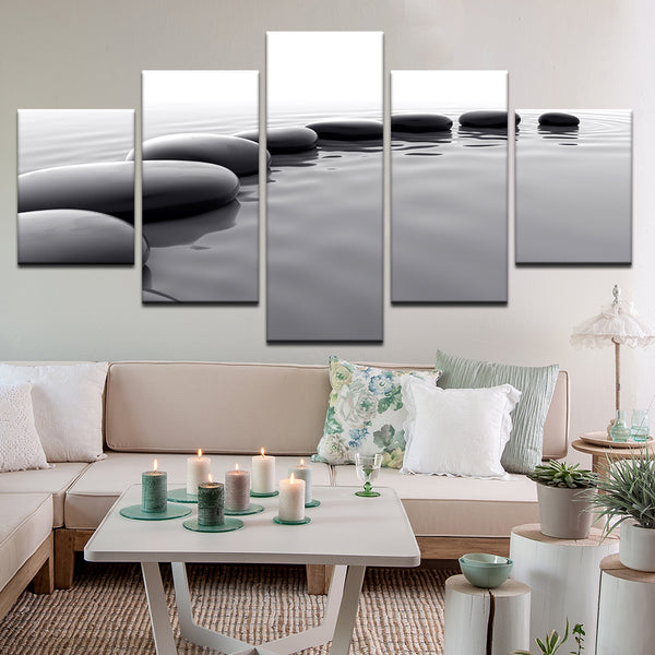 Stepping Stones 5 Panel Canvas Print Wall Art