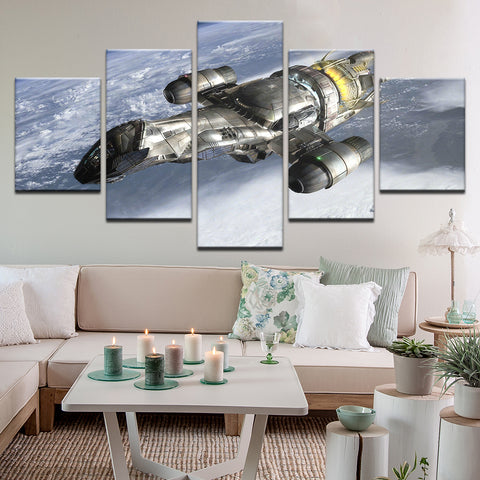 Firefly Serenity 5 Panel Canvas Print Wall Art