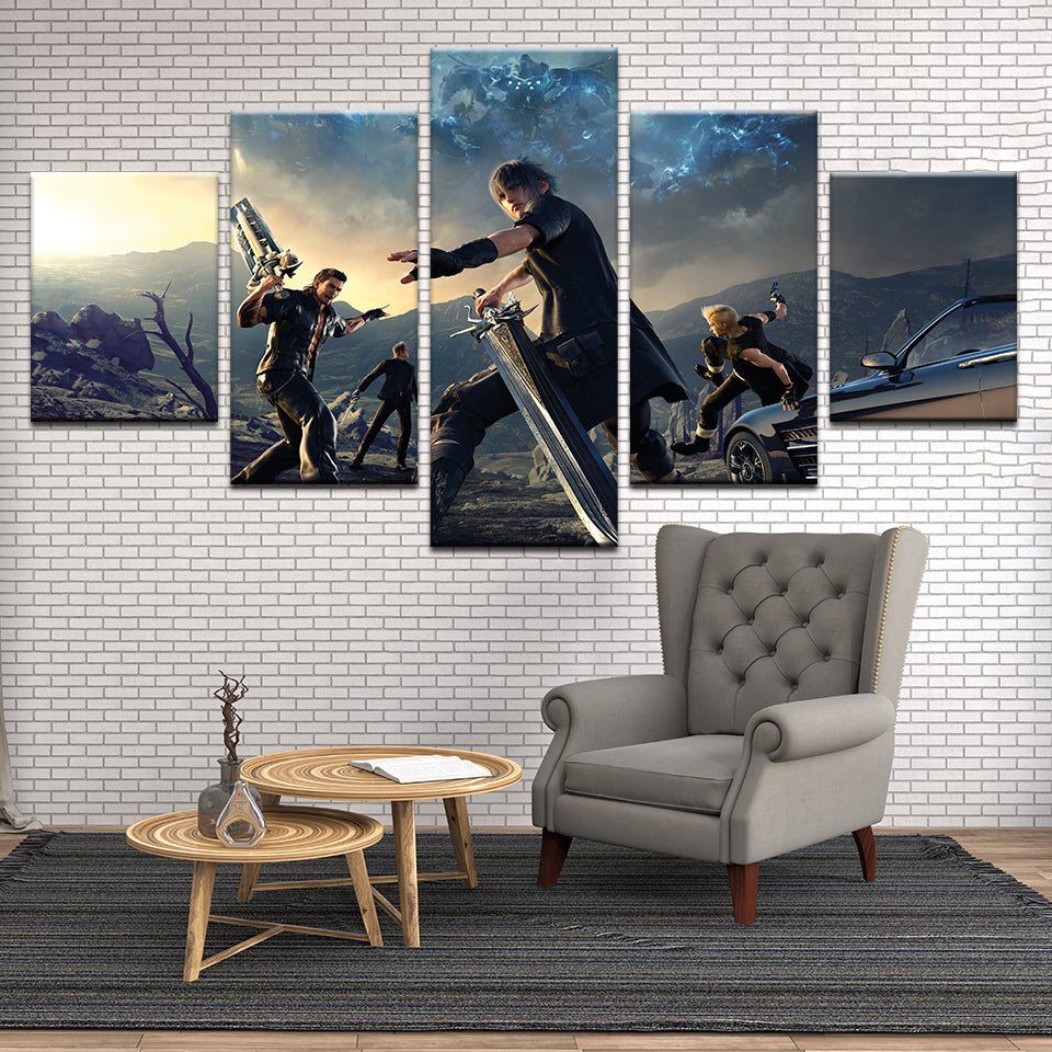 Final Fantasy XV 5 Panel Canvas Print Wall Art