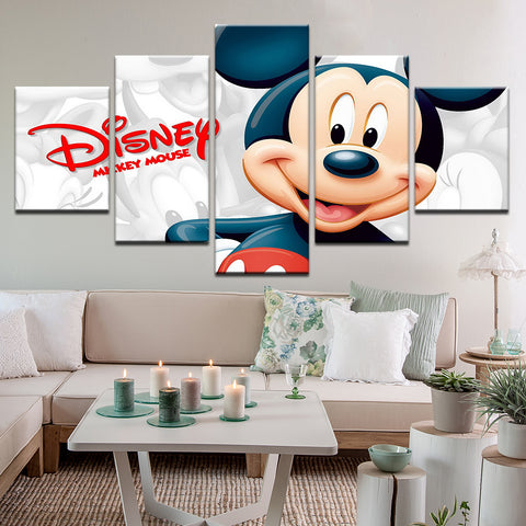 Mickey Mouse Disney 5 Panel Canvas Print Wall Art