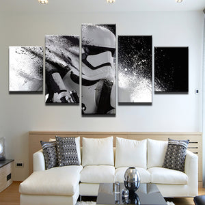 Star Wars Stormtrooper 5 Panel Canvas Print Wall Art