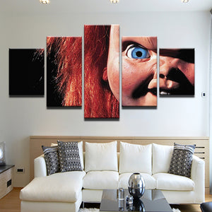 Child's Play Chucky 5 Panel Canvas Print Wall Art