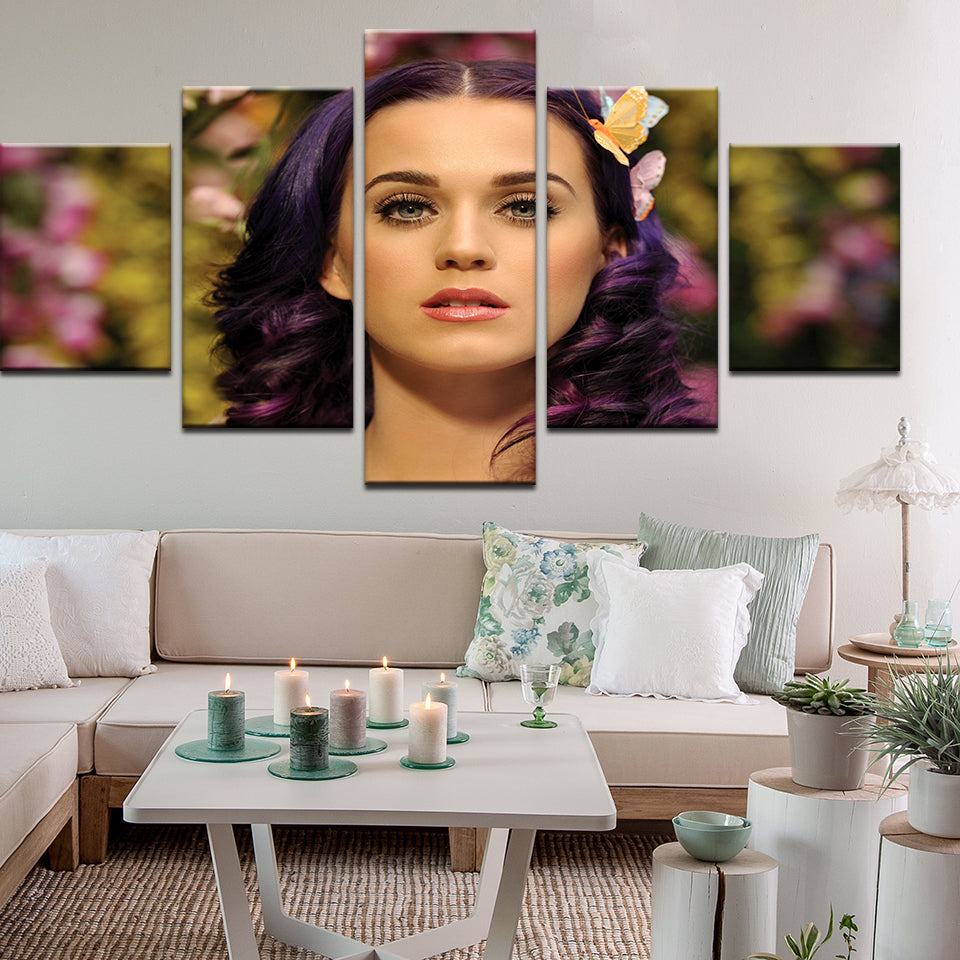 Katy Perry 5 Panel Canvas Print Wall Art