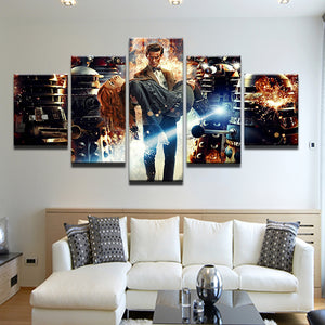 Doctor Who Matt Smith 5 Panel Canvas Print Wall Art