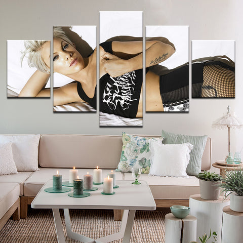 Pink 5 Panel Canvas Print Wall Art