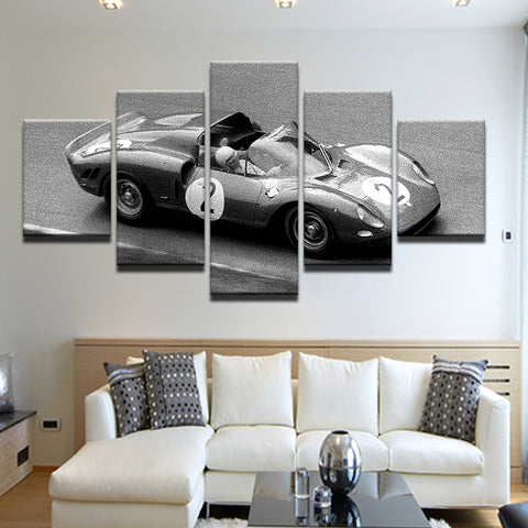 Ferrari 275P Jean Guichet 1965 5 Panel Canvas Print Wall Art