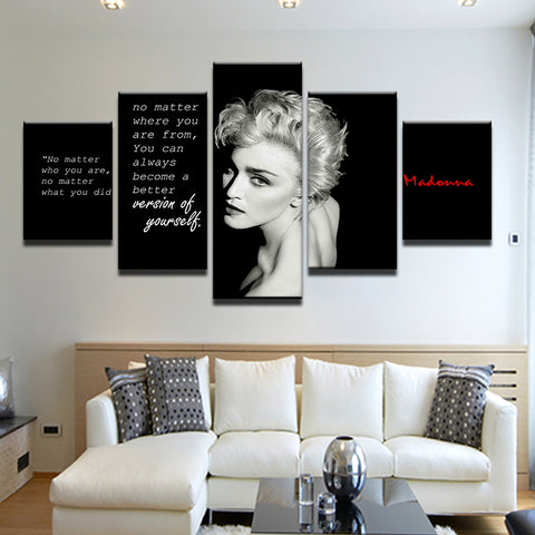 Madonna Quote 5 Panel Canvas Print Wall Art