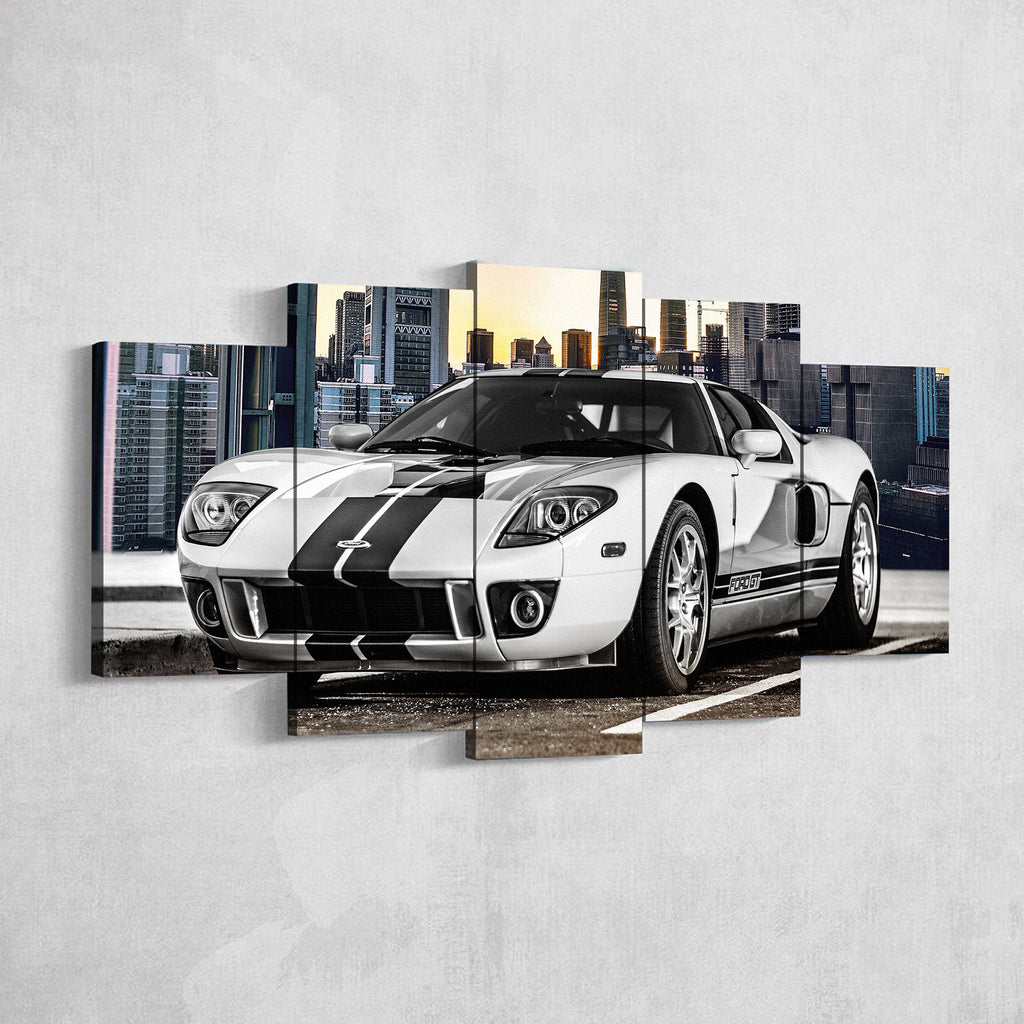 Ford Gt 5 Panel Canvas Print Wall Art Gotithere Com