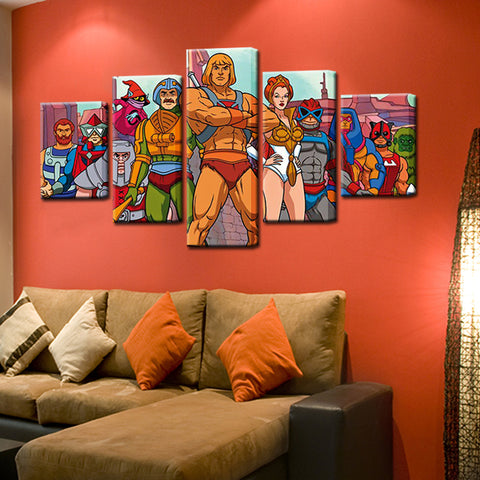 He-Man 5 Panel Canvas Print Wall Art