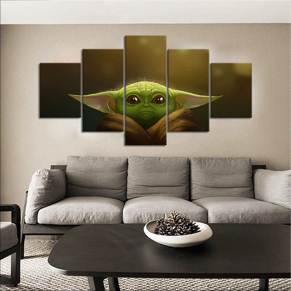 Mandalorian Star Wars 5 Panel Canvas Print Wall Art