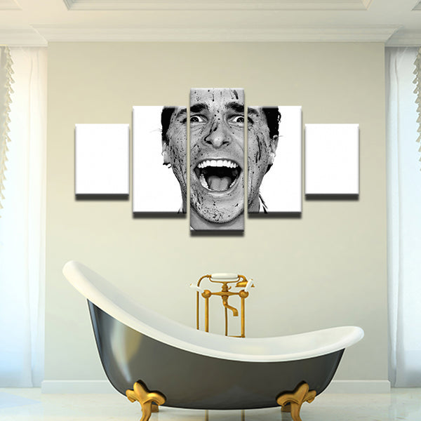 American Psycho 5 Panel Canvas Print Wall Art