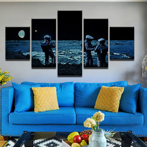 2001: A Space Odyssey 5 Panel Canvas Print Wall Art