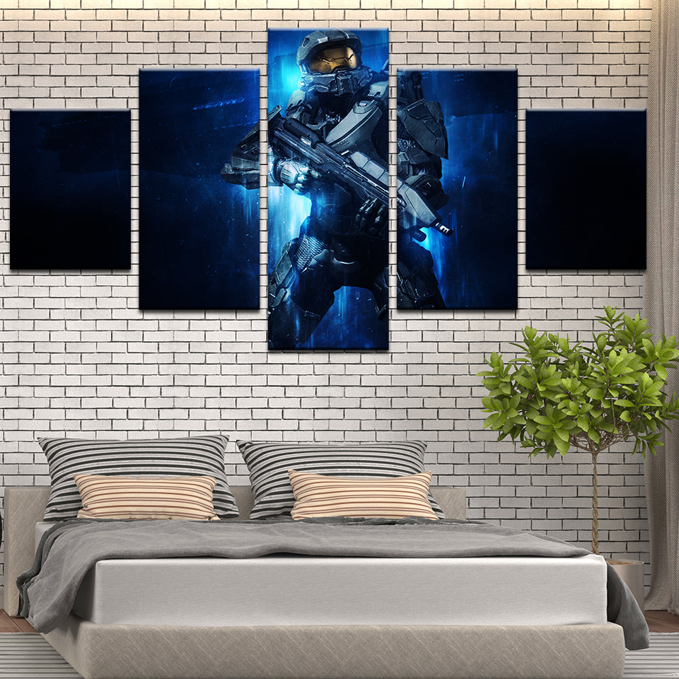 Halo Master Chief 5 Panel Canvas Print Wall Art