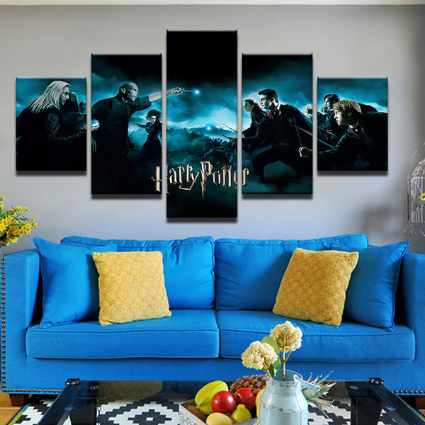 Harry Potter 5 Panel Canvas Print Wall Art