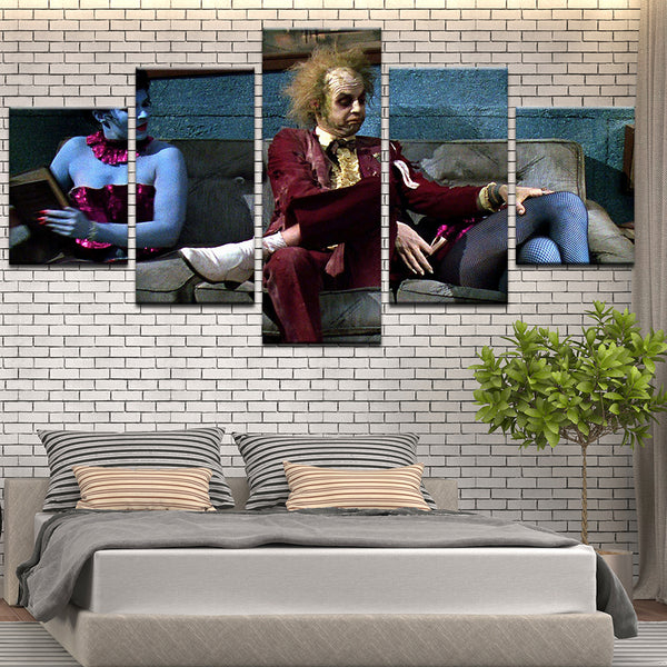 Beetlejuice 5 Panel Canvas Print Wall Art