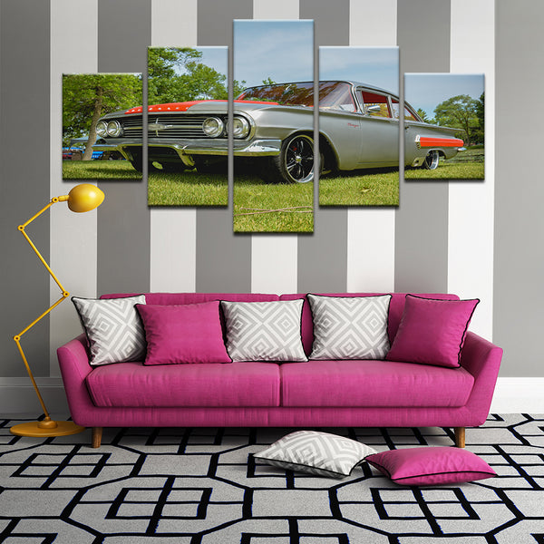 Chevy Chevrolet Biscayne 5 Panel Canvas Print Wall Art