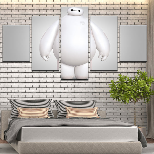 Big Hero 6 Baymax 5 Panel Canvas Print Wall Art