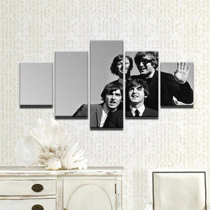 Beatles 5 Panel Canvas Print Wall Art