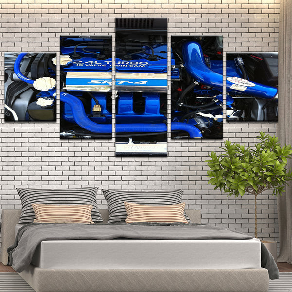 Dodge Neon SRT-4 Engine 5 Panel Canvas Print Wall Art