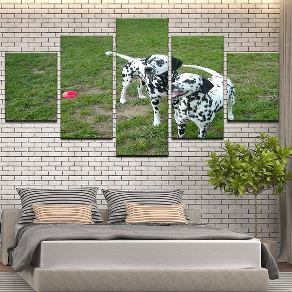 Dalmatians 5 Panel Canvas Print Wall Art