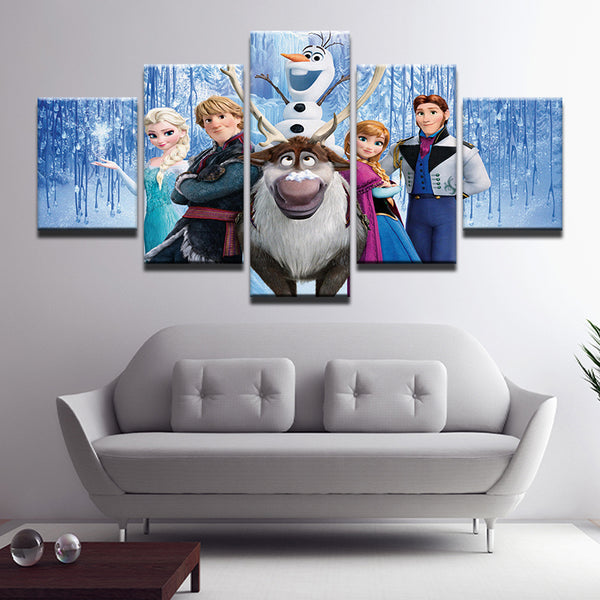 Frozen 5 Panel Canvas Print Wall Art