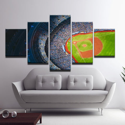 Rogers Centre Blue Jays Toronto 5 Panel Canvas Print Wall Art