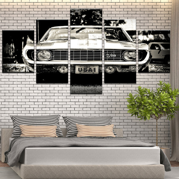 Chevy Chevrolet Camaro Z/28 Classic 5 Panel Canvas Print Wall Art