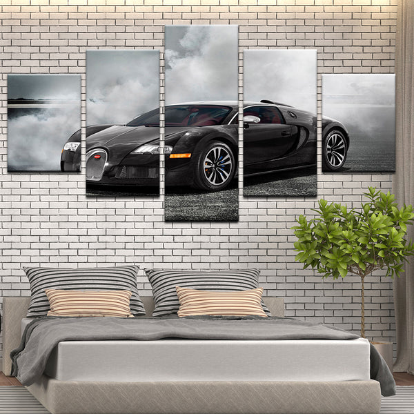 Bugatti Veyron 5 Panel Canvas Print Wall Art