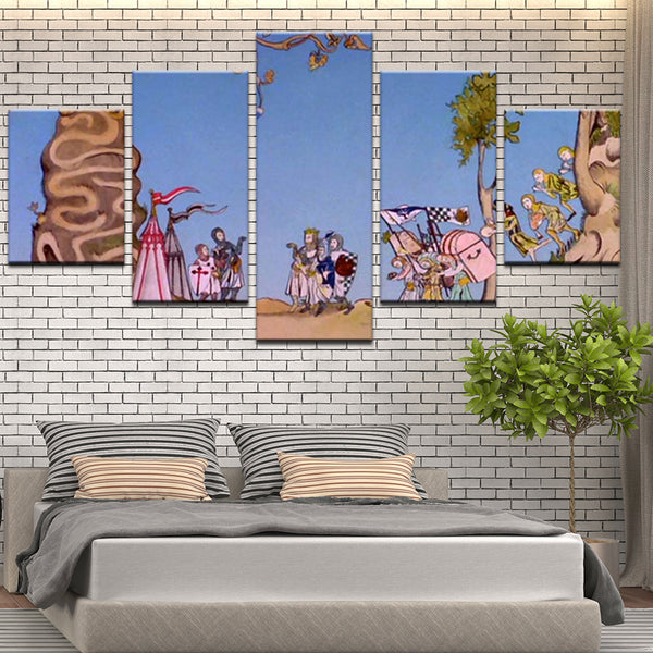 Monty Python and the Holy Grail 5 Panel Canvas Print Wall Art